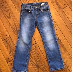 Boys old navy slim jean size 6 regular adj. wb